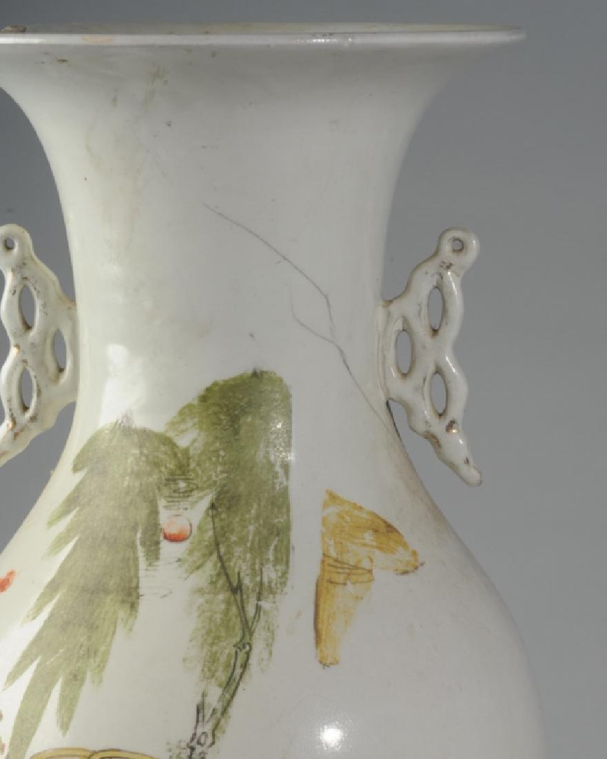 Large Chinese Republic Period Porcelain Vase - 5