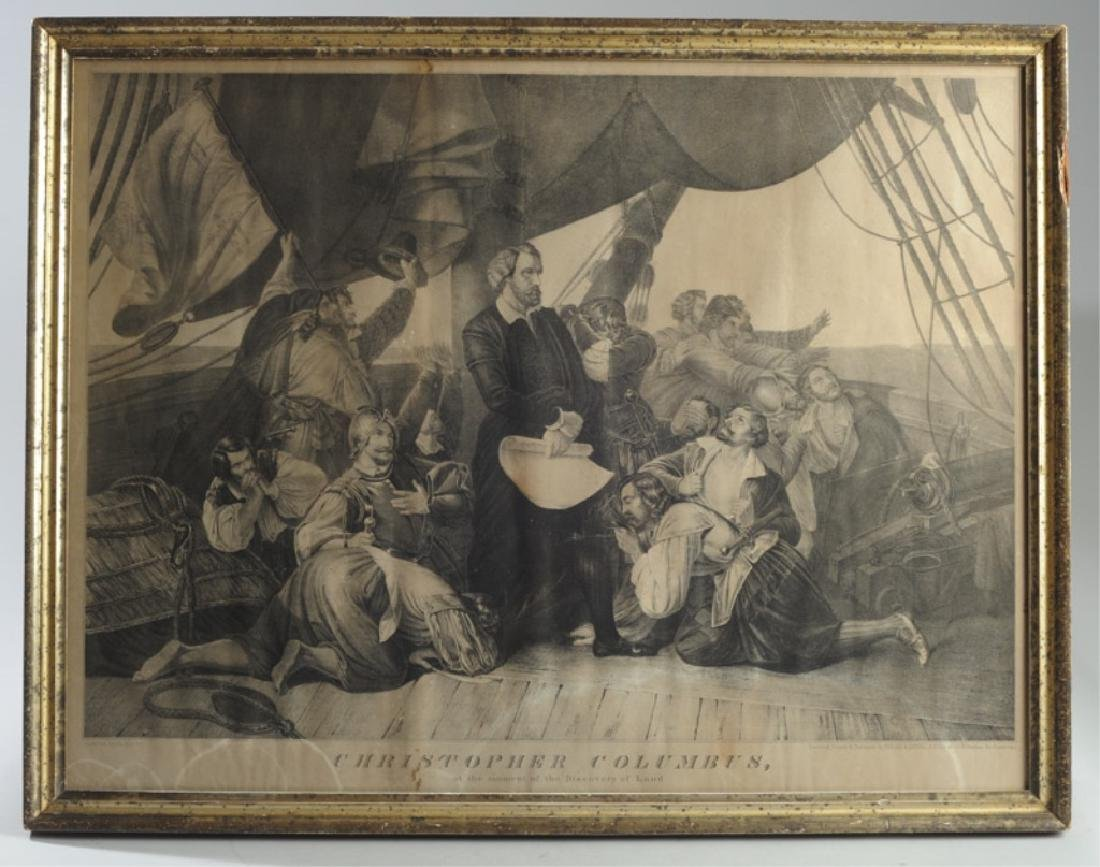 19th C. Christopher Columbus Lithograph