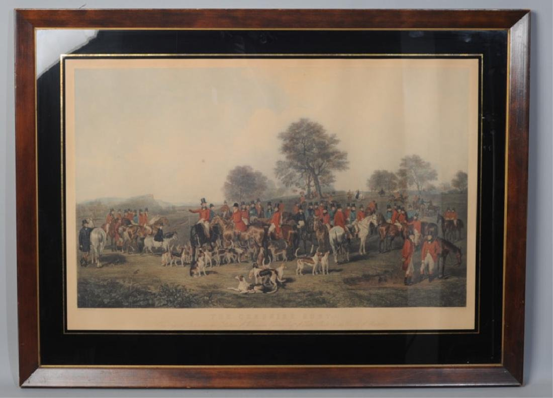 """C. S. Lewis Engraving """"The Cheshire Hunt"""""""