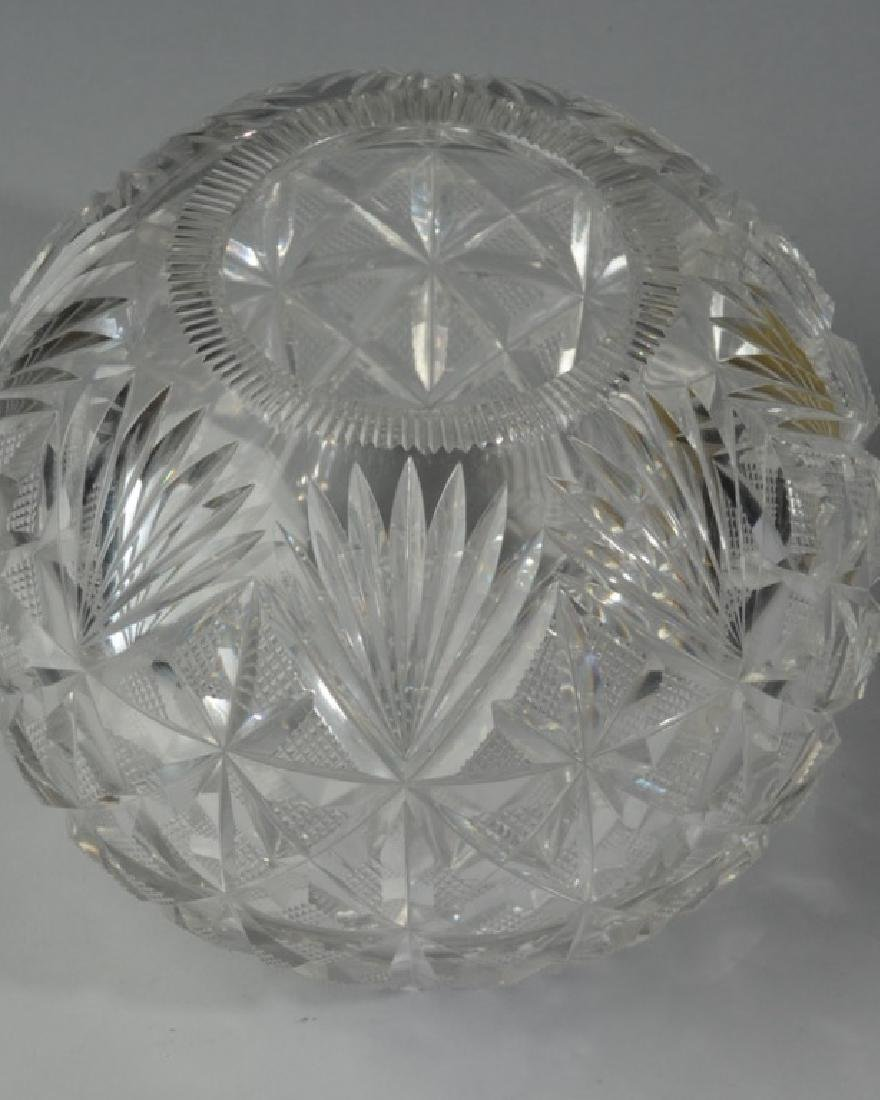 Cut Glass Rose Bowl - 2