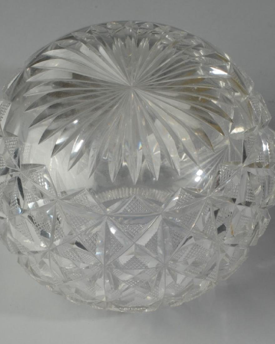 Cut Glass Rose Bowl - 3
