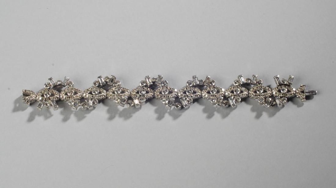 Lady's 14k White Gold and Diamond Bracelet