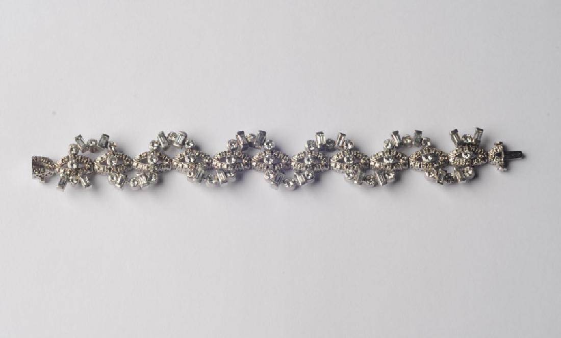 Lady's 14k White Gold and Diamond Bracelet - 2
