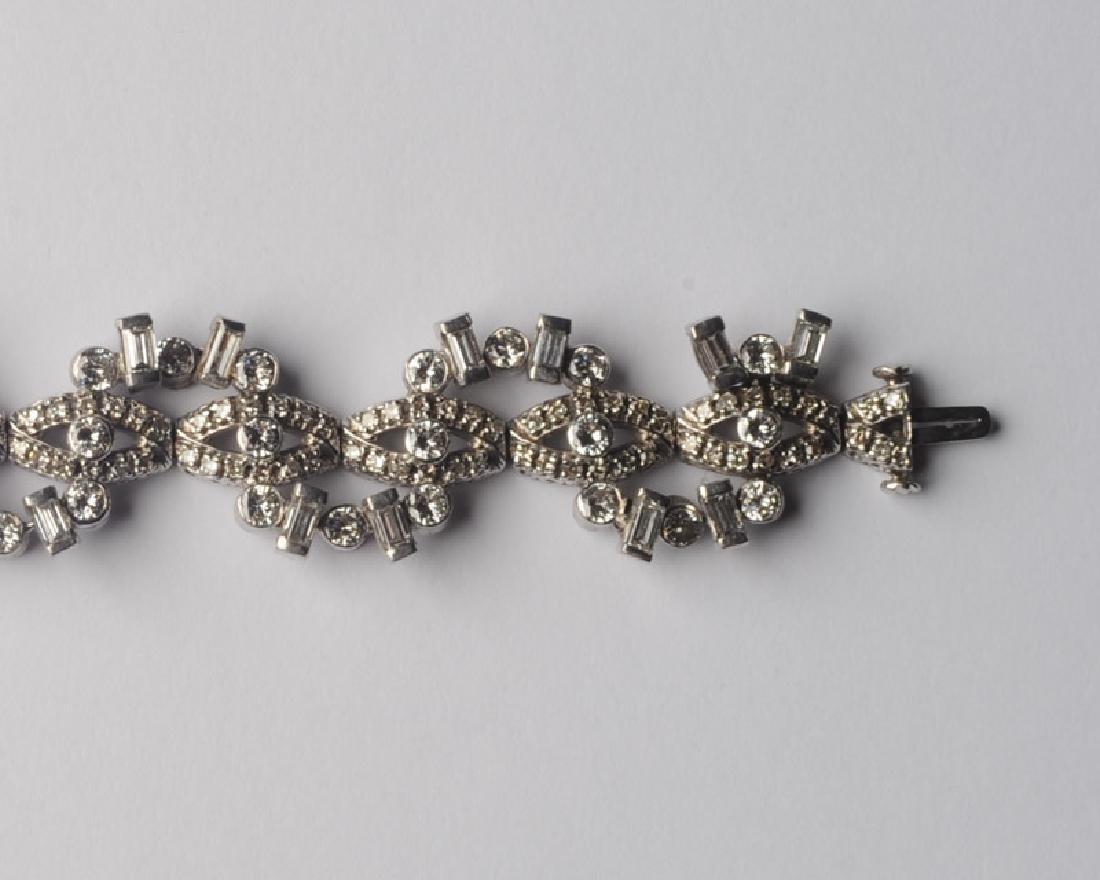 Lady's 14k White Gold and Diamond Bracelet - 3