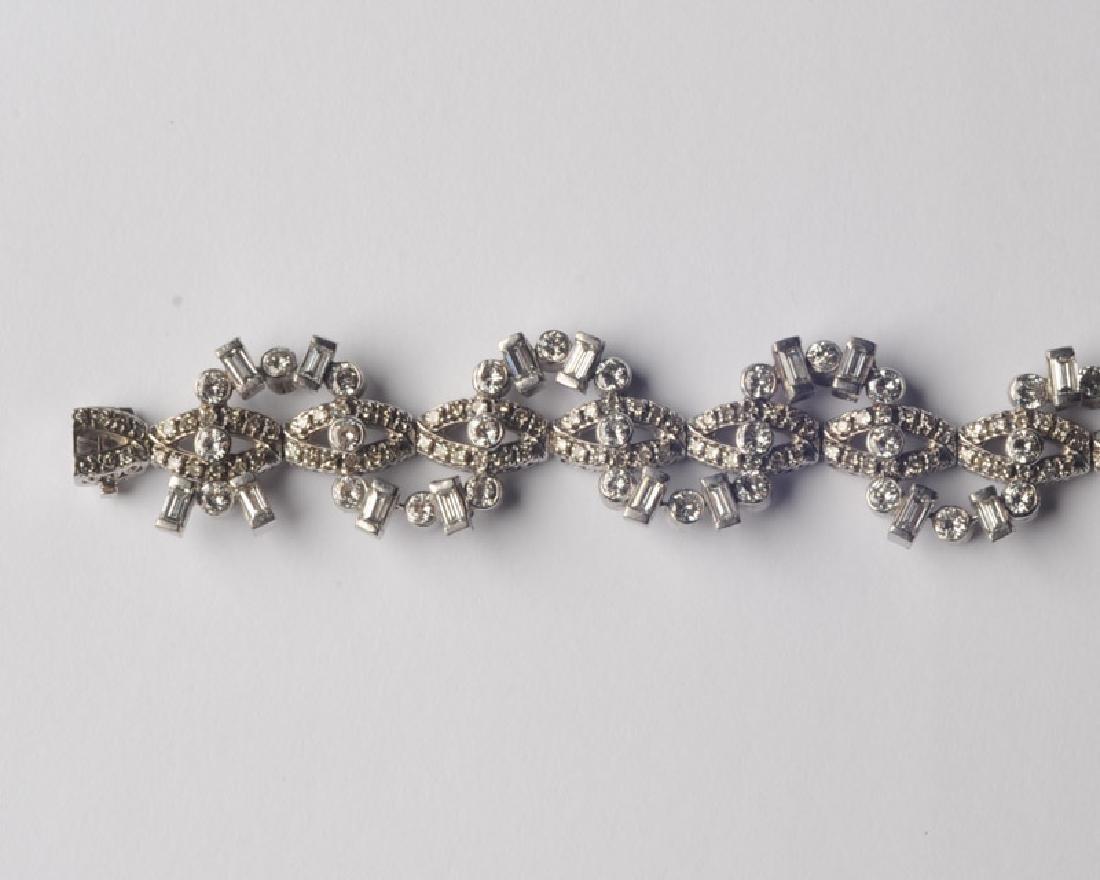 Lady's 14k White Gold and Diamond Bracelet - 4