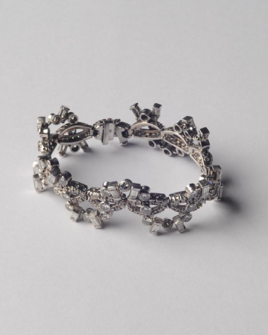Lady's 14k White Gold and Diamond Bracelet - 5