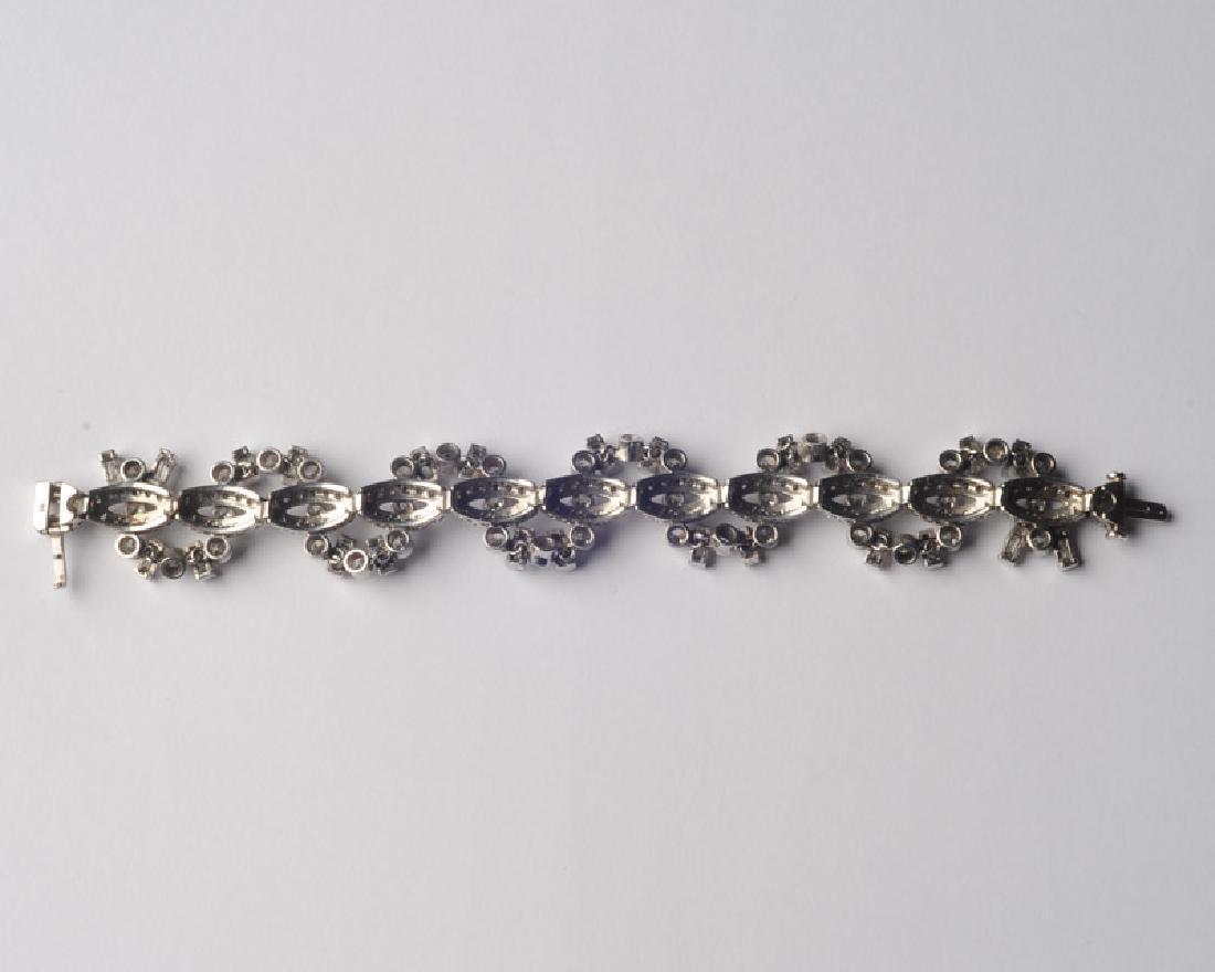 Lady's 14k White Gold and Diamond Bracelet - 6