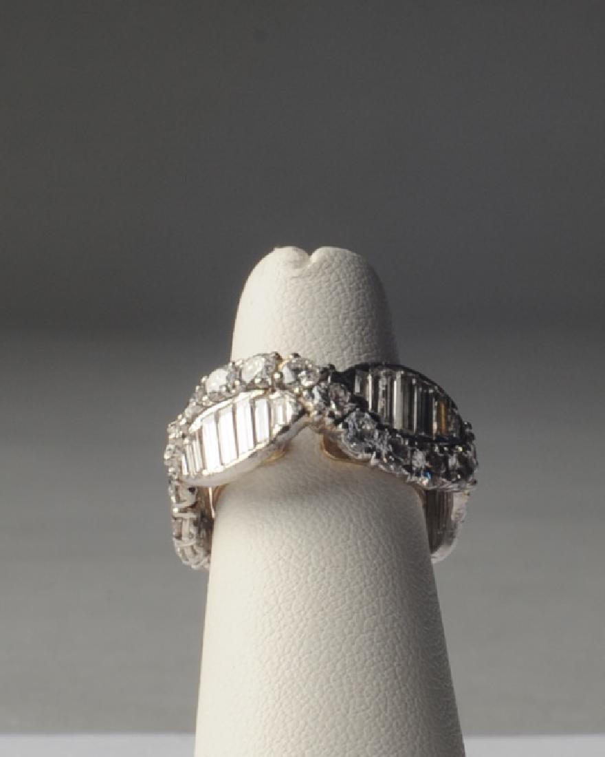 Lady's Platinum and Diamond Wedding Style Ring - 2