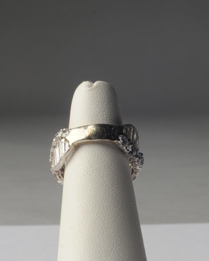 Lady's Platinum and Diamond Wedding Style Ring - 3