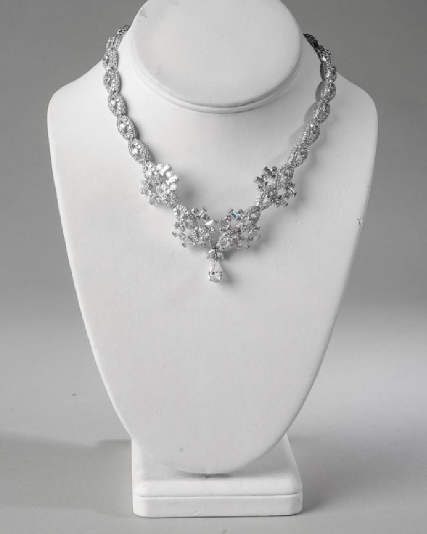 Lady's Platinum and Diamond Necklace