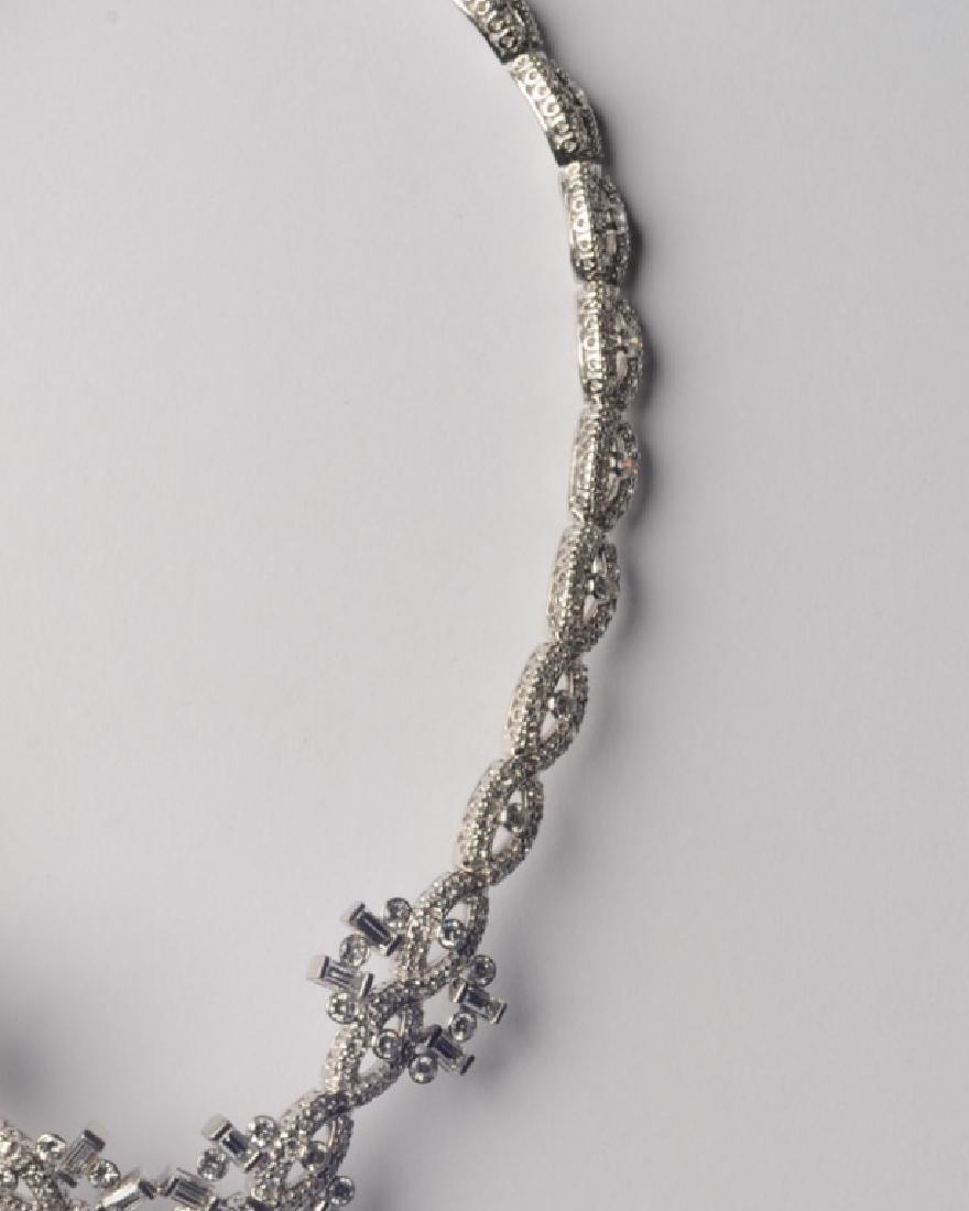 Lady's Platinum and Diamond Necklace - 3