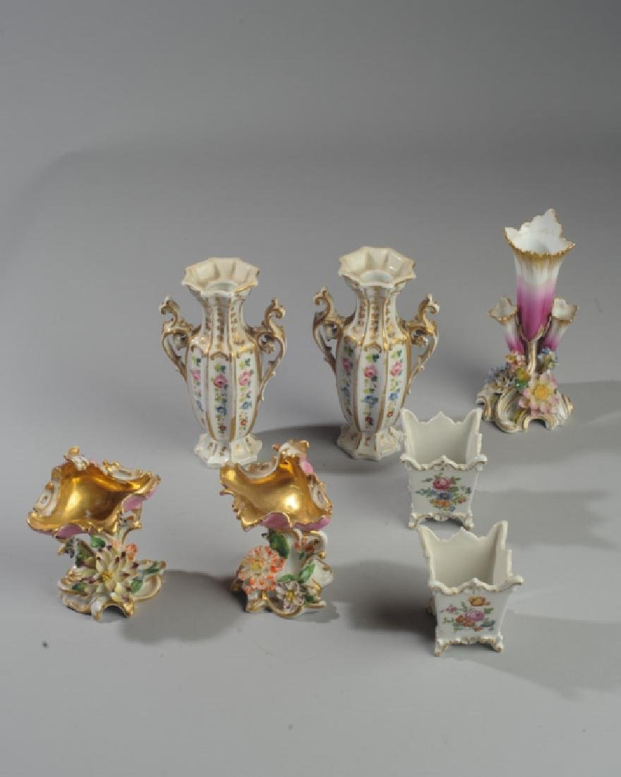 Lot of Diminutive Old Paris Pieces