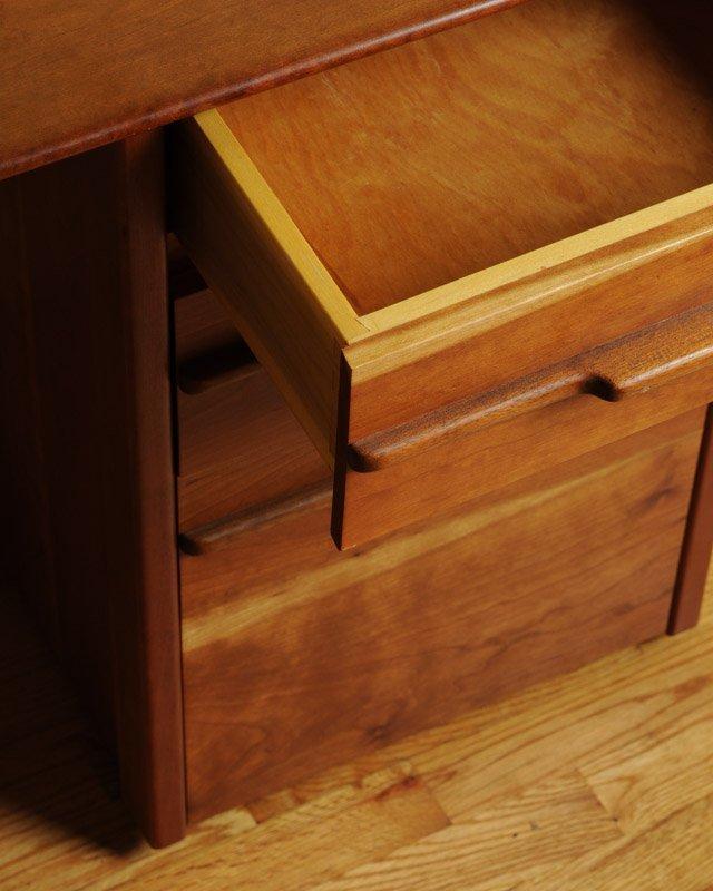 Mid Century Modern Design Cherry Desk - 2