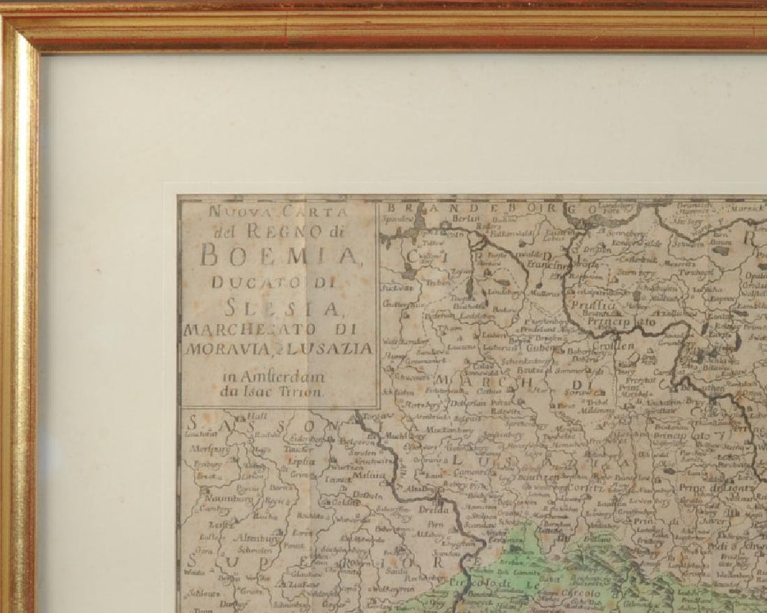 Antique 1740 Map Boemia (Bohemia) - 2