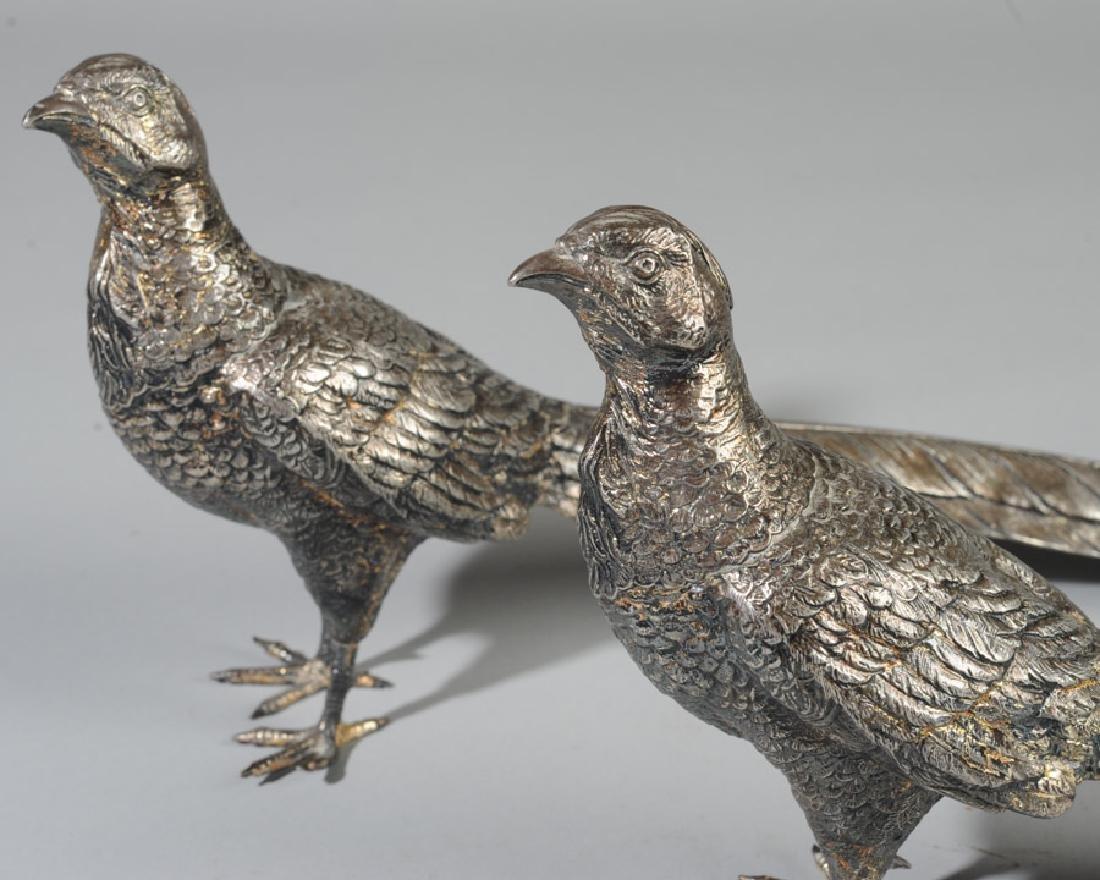 Pair of Weidlich Brothers Silverplate Pheasants - 2