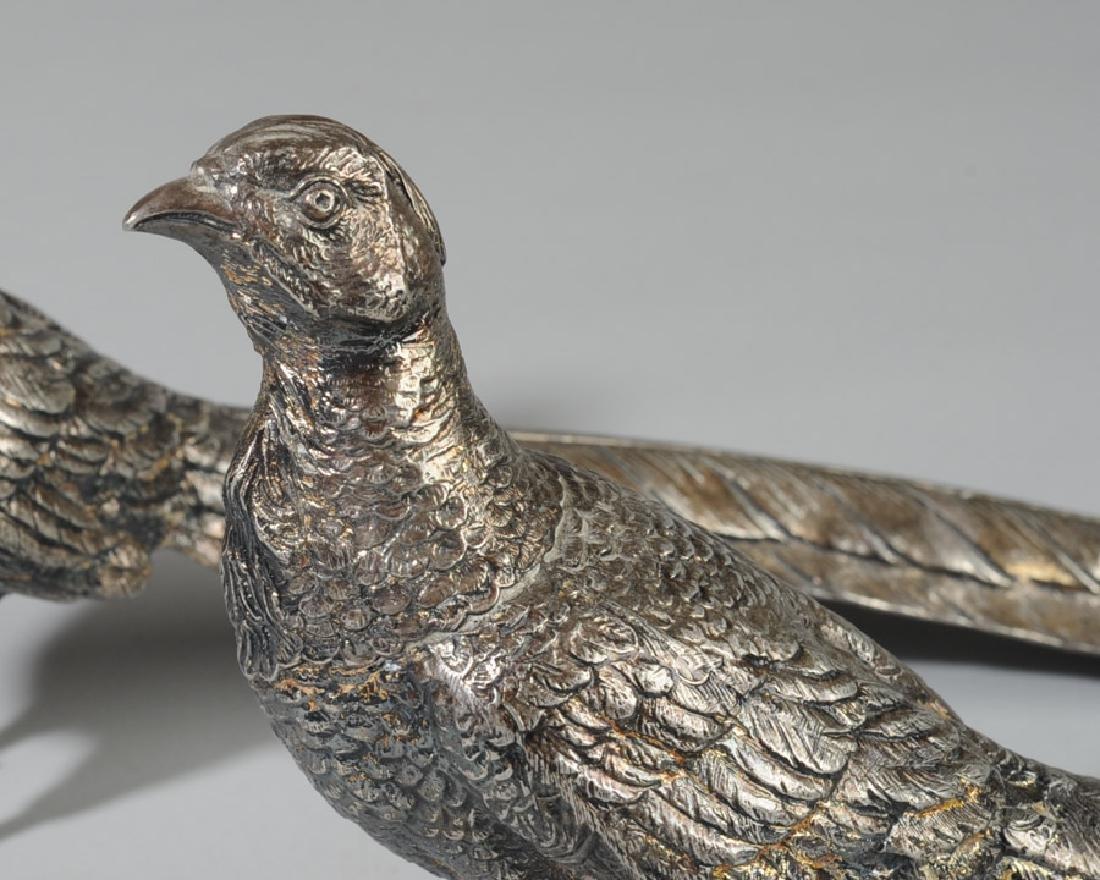 Pair of Weidlich Brothers Silverplate Pheasants - 3