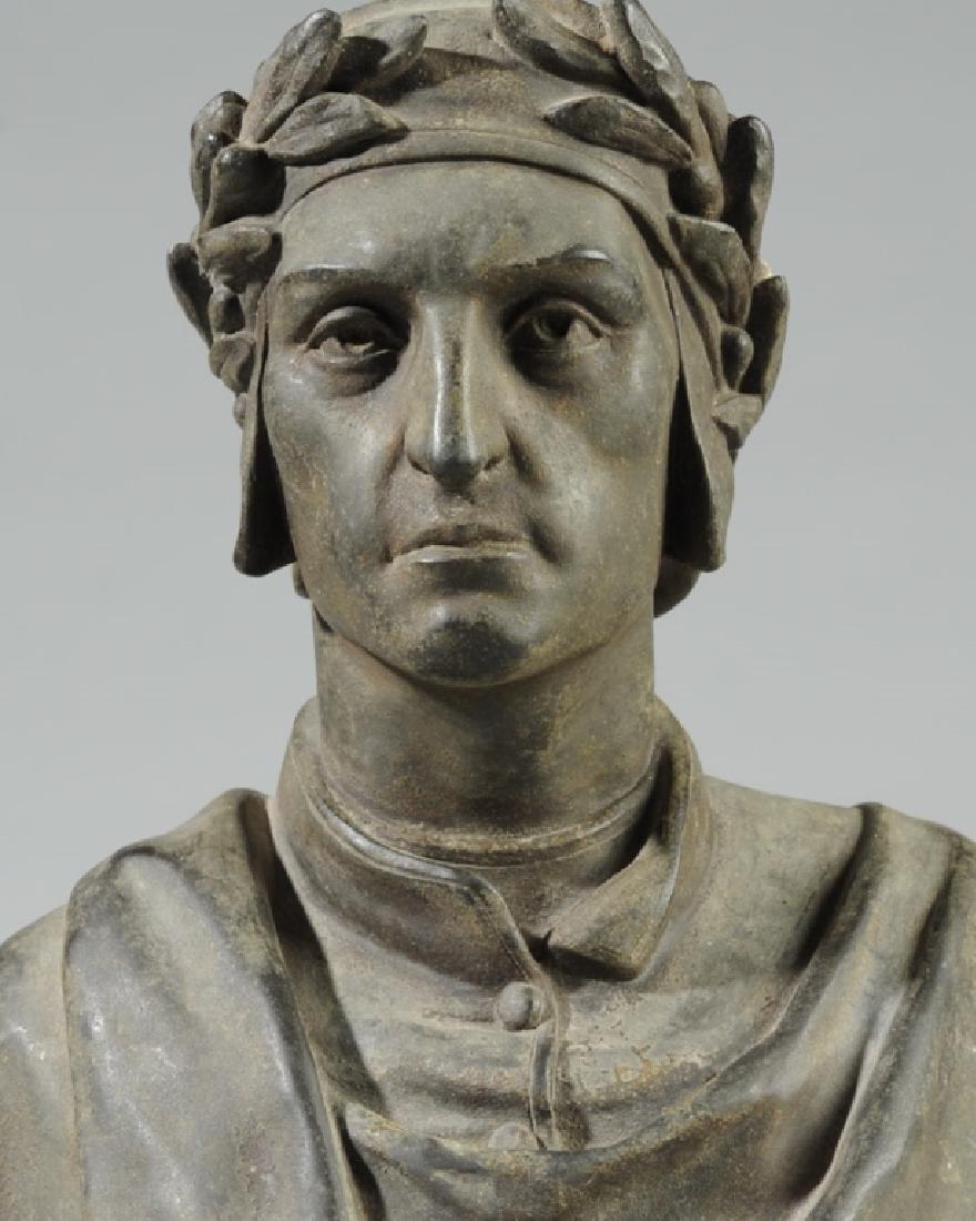 Antique Guillemin Spelter Bust of Dante - 2