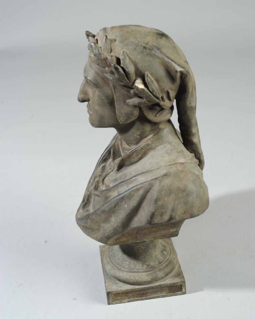 Antique Guillemin Spelter Bust of Dante - 3