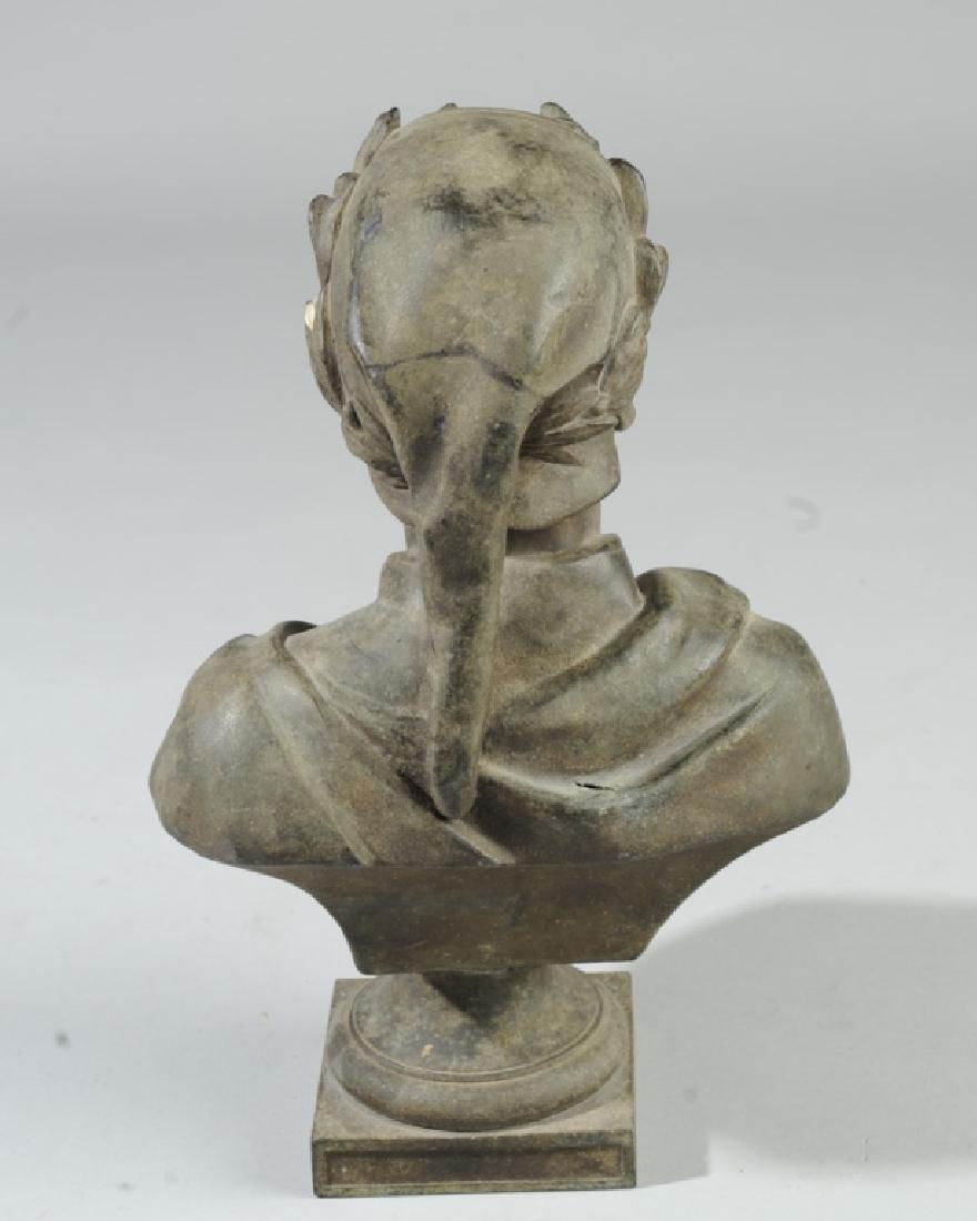 Antique Guillemin Spelter Bust of Dante - 4