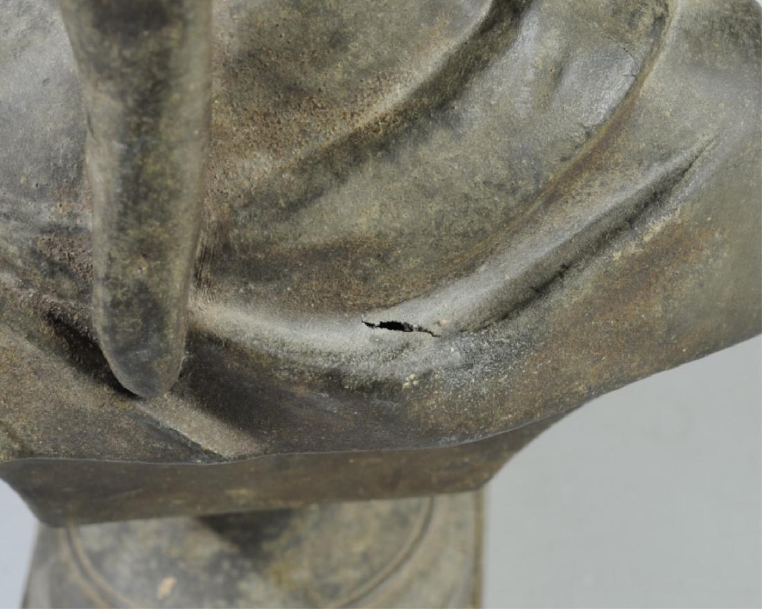Antique Guillemin Spelter Bust of Dante - 5