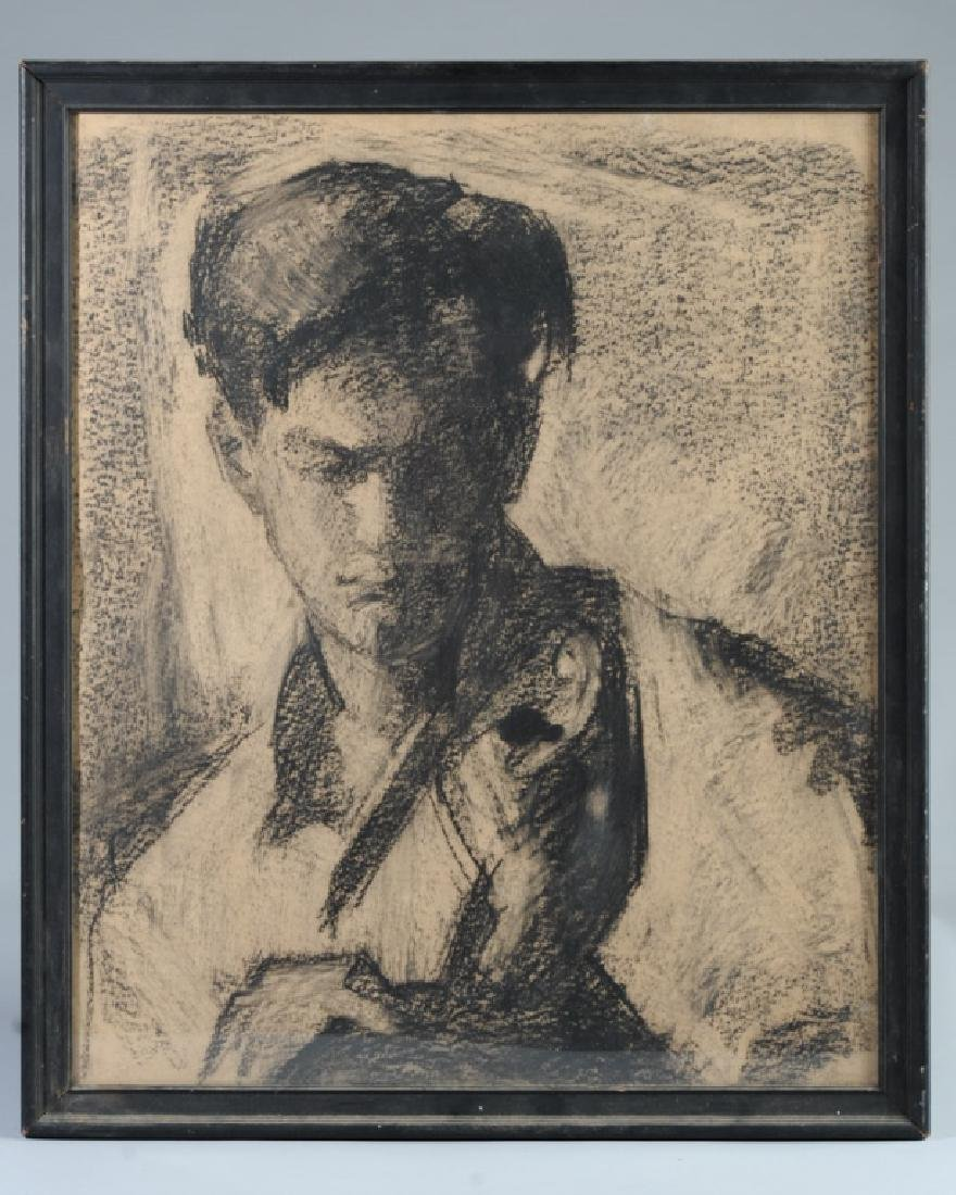 Charcoal Drawing of Young Man