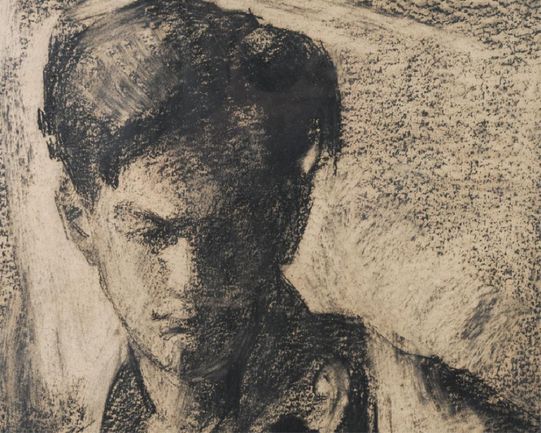 Charcoal Drawing of Young Man - 2