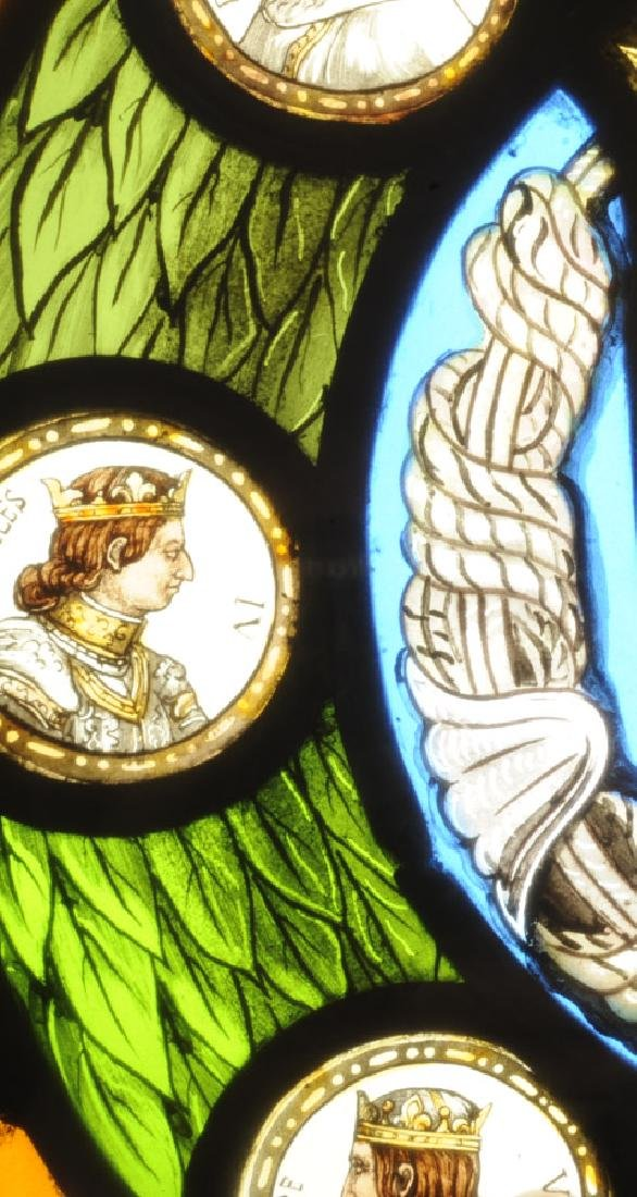 Rare Stained Glass Kings of France - 2