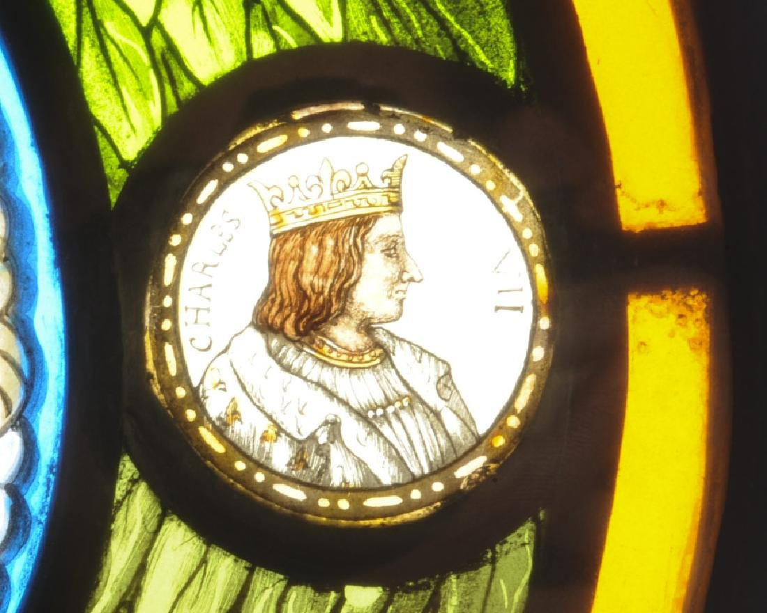 Rare Stained Glass Kings of France - 3