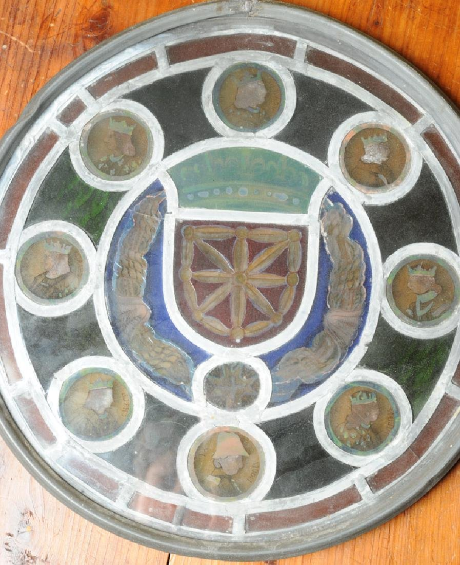 Rare Stained Glass Kings of France - 4