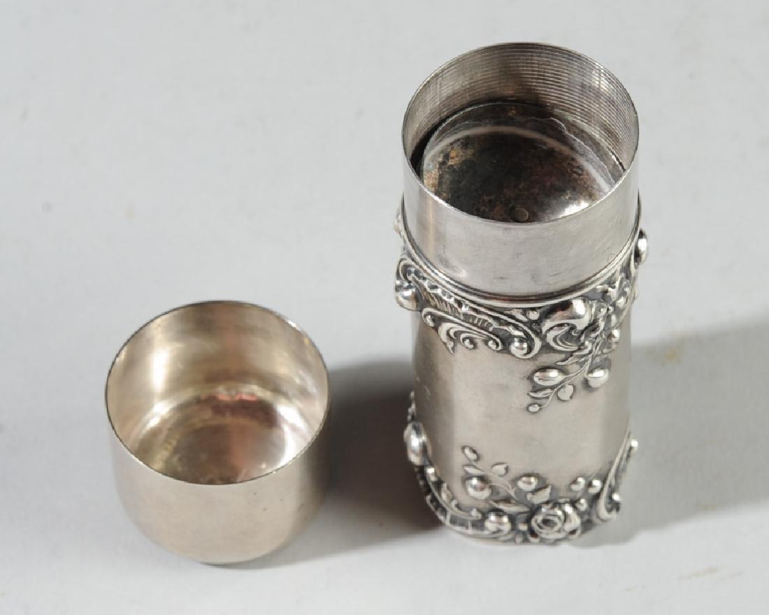 19th C. Gorham Sterling Silver Shaving Brush Case - 3