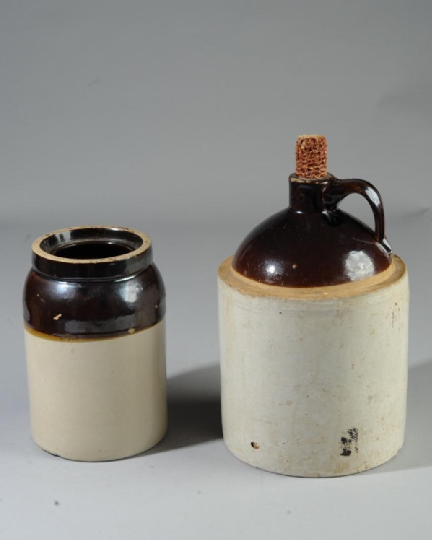 20th C. Stoneware Crock and Jug