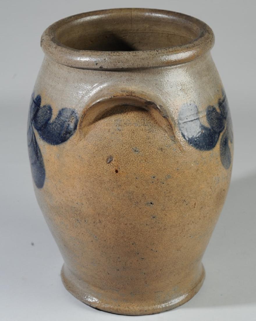 Antique Ovoid Stoneware Crock - 3
