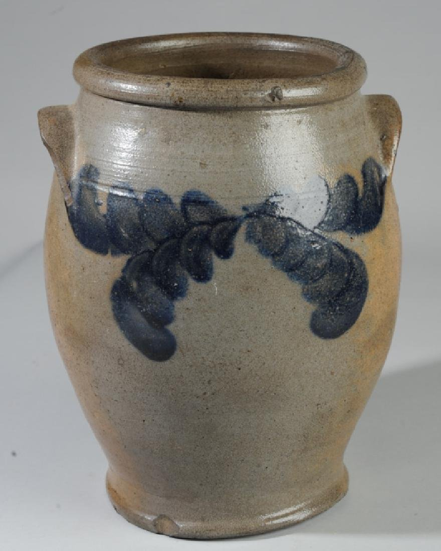 Antique Ovoid Stoneware Crock - 4