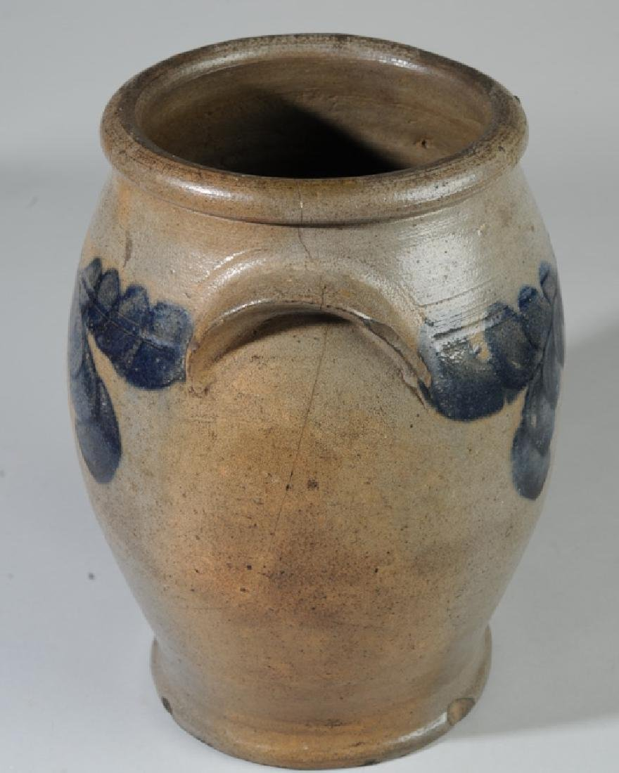 Antique Ovoid Stoneware Crock - 7