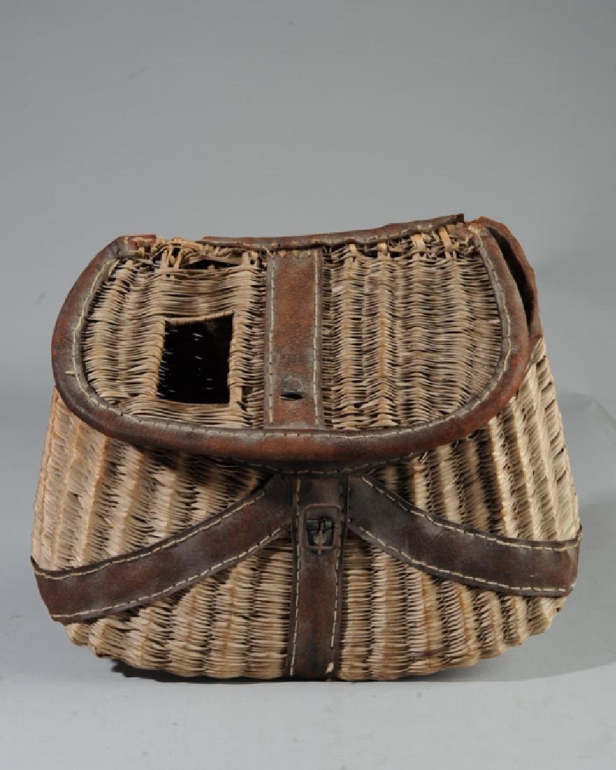Antique Fishing Creel Basket