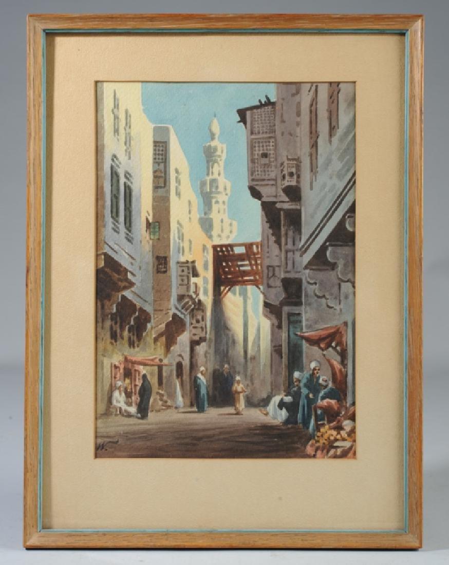 Edwin Lord Weeks Orientalist Street Scene