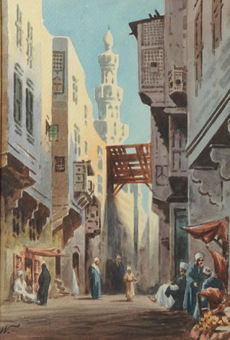 Edwin Lord Weeks Orientalist Street Scene - 2