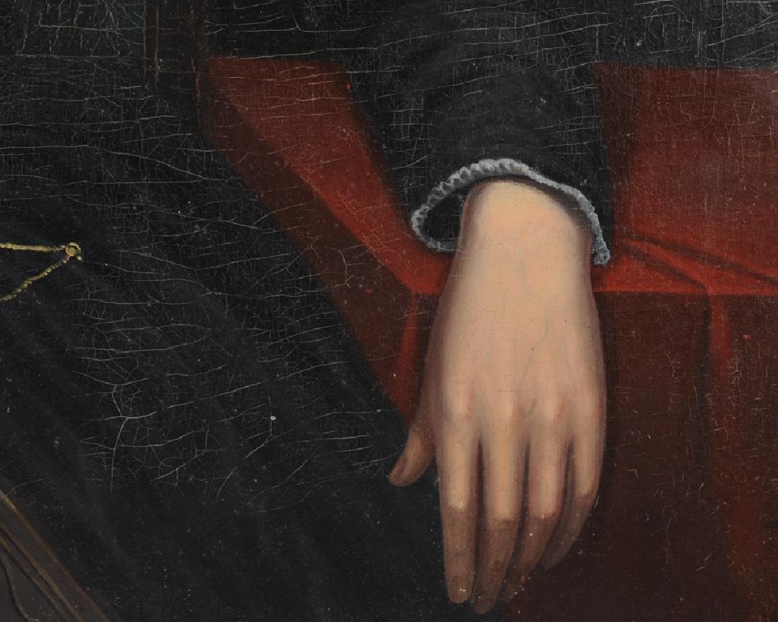 19th C. American Folk Art Portrait of a Lady - 4