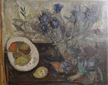 Raymond Guerrier Still Life Oil on Canvas