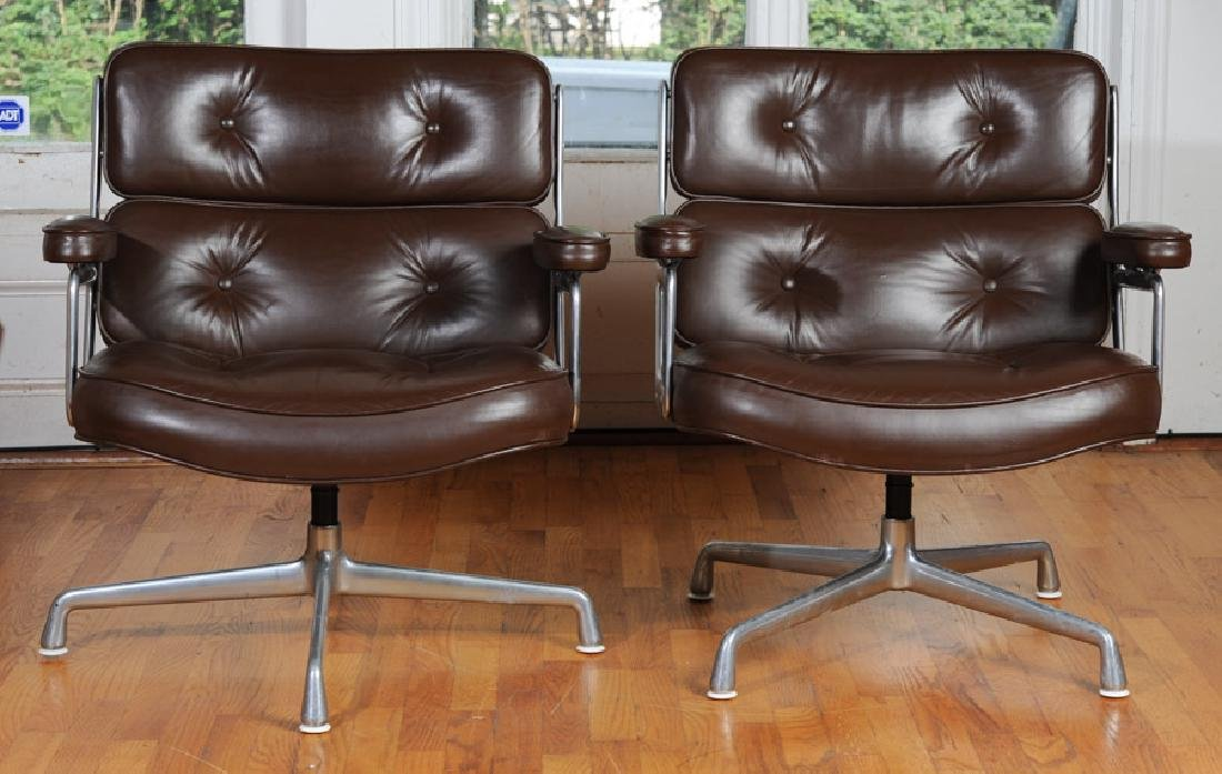 Pair of Eames Herman Miller Time Life Chairs