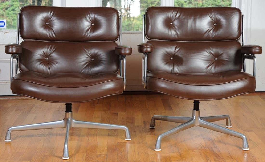 Pair of Eames Herman Miller Time Life Chairs - 2