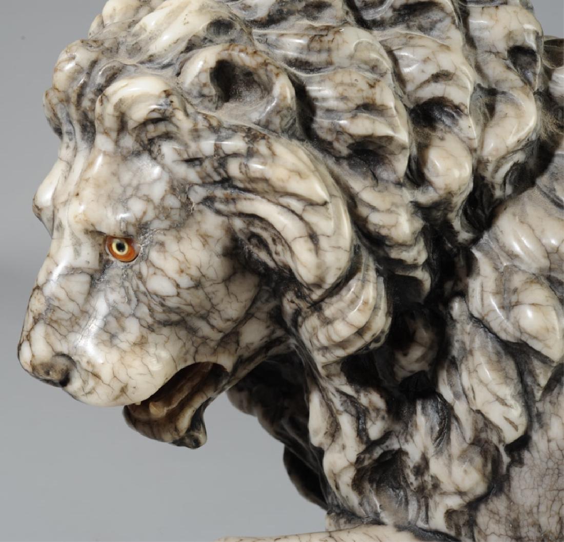 Carved Alabaster Medici Lion - 2