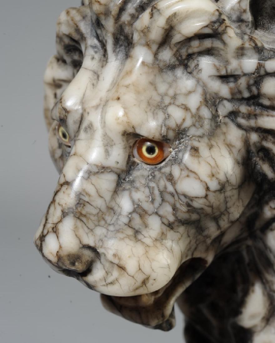 Carved Alabaster Medici Lion - 3