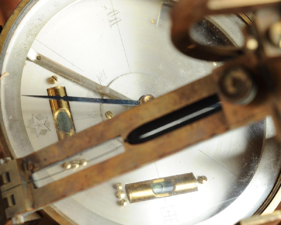 Early Gurley Surveyor's Transit, Tripod, Rod, Box - 10