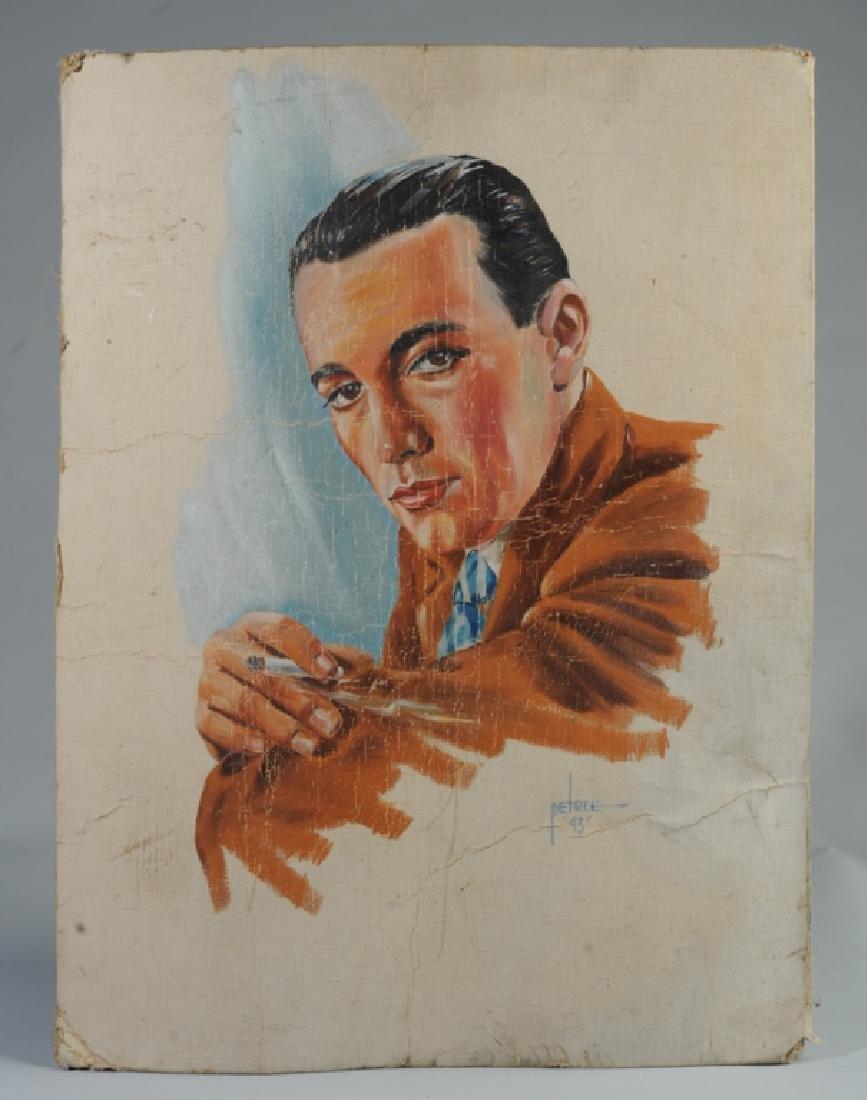 Keats Petree Illustration Man Smoking Cigarette
