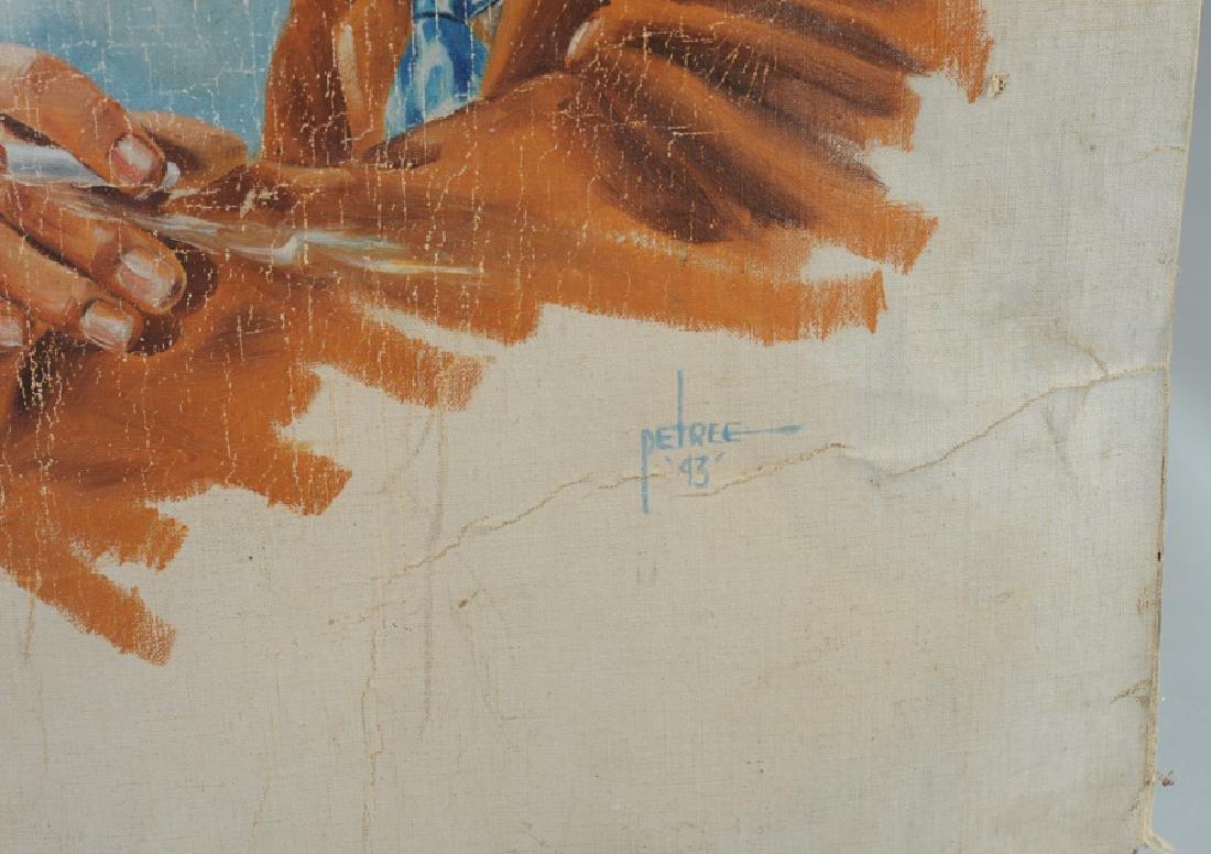 Keats Petree Illustration Man Smoking Cigarette - 3