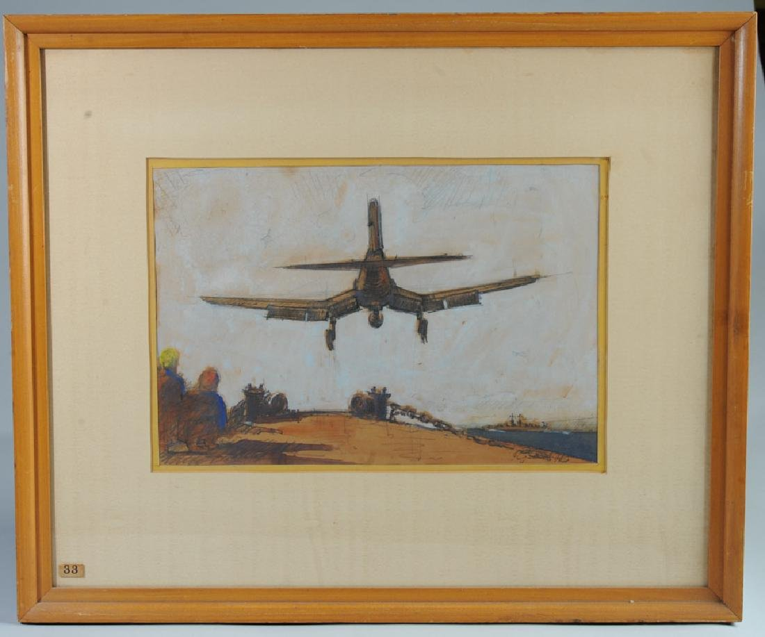 Floyd Johnson 1944 Mixed Media of Fighter Plane
