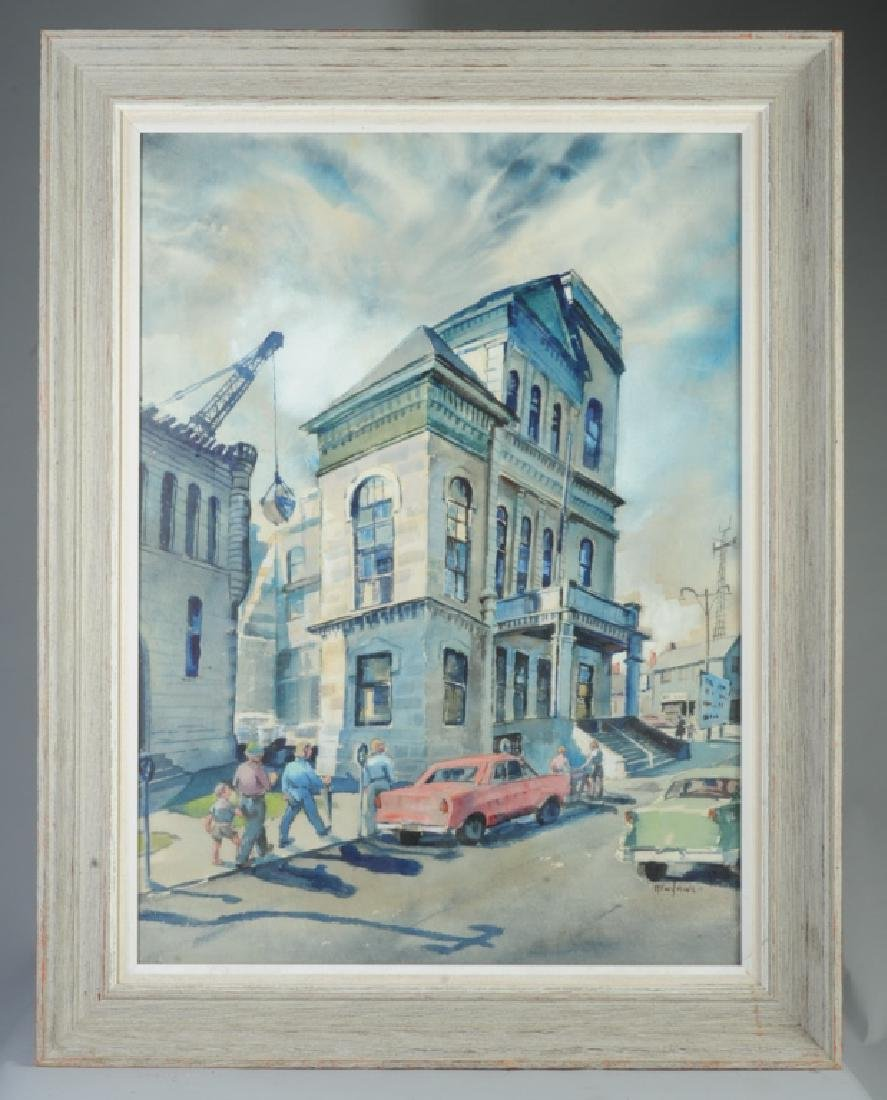 Ruth Van Sickle Ford Watercolor Urban Scene