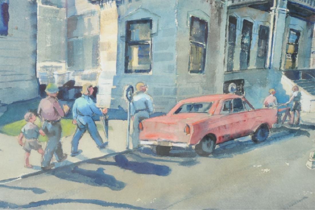 Ruth Van Sickle Ford Watercolor Urban Scene - 2