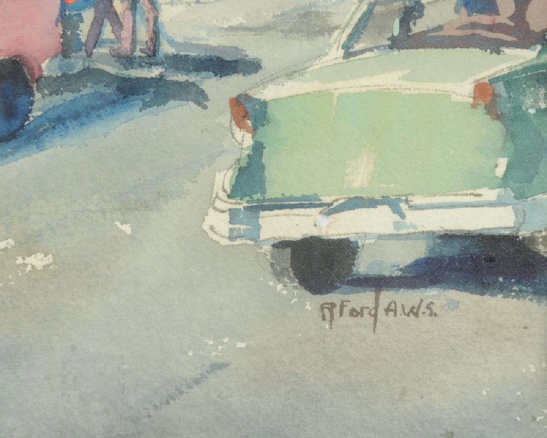 Ruth Van Sickle Ford Watercolor Urban Scene - 5